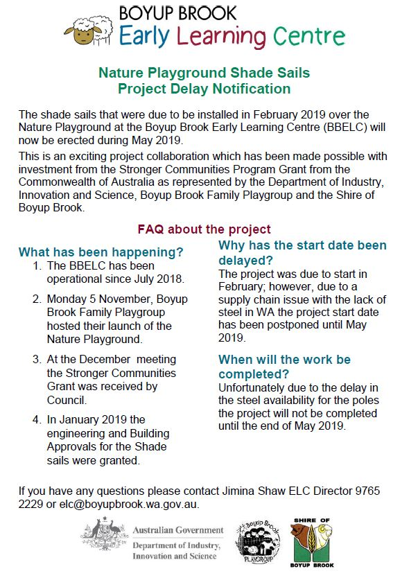 elc project delay notification