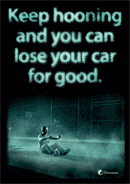 Keep hooning and you can lose your car for good