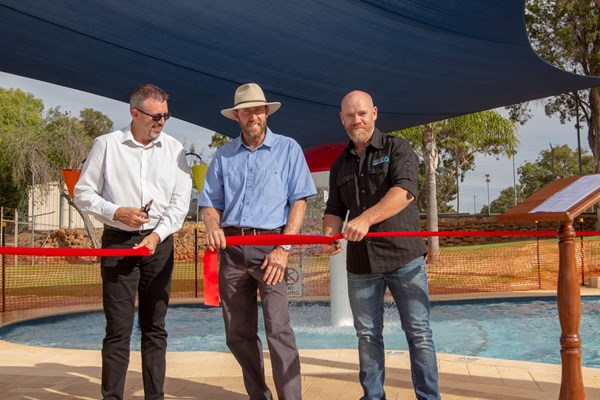 Children's Pool Project - cutting the ribbon