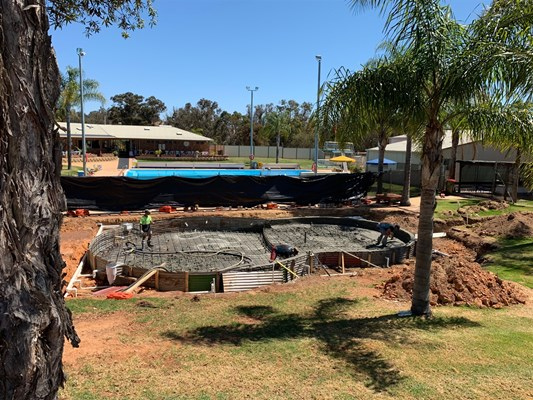 Children's Pool Project - pool construction 2