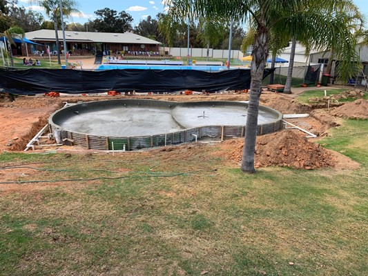 Children's Pool Project - pool construction 3