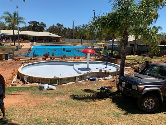 Children's Pool Project - pool construction 4