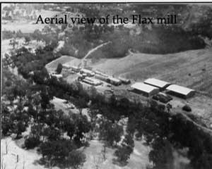 Aerial view of the Flax mill